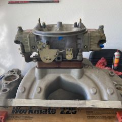 Dart Intake Manifold and AED Street Dominator Carb